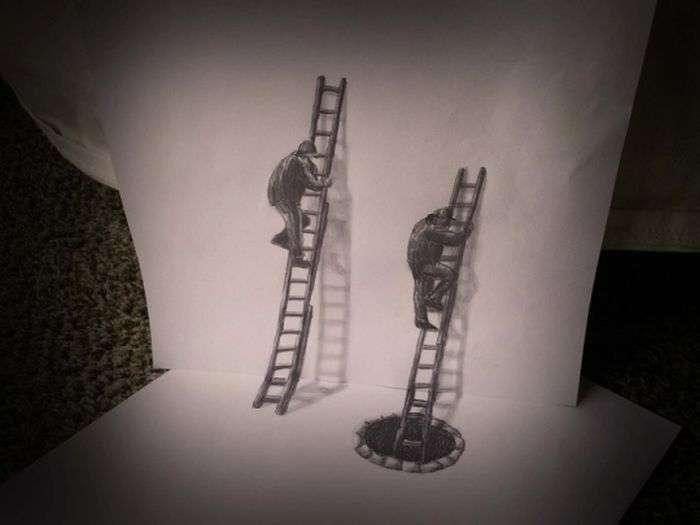 Шикарні 3D-малюнки, зроблені за допомогою олівця (33 фото)