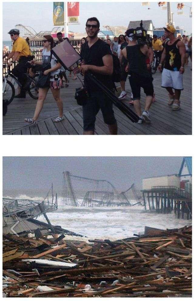 Порівняльні знімки до і після урагану Сенді (24 фото)
