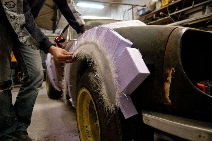 Перевтілення іржавої розвалюхи в круте авто для дріфту (28 фото)