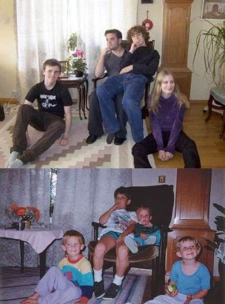 У дитинстві і зараз. Частина 6 (30 фото)