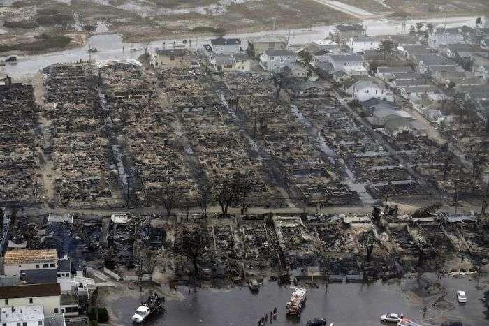 Район Квінс був знесений з лиця Землі ураганом Сенді (9 фото)