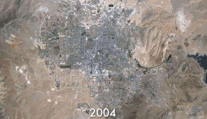 Як змінилися межі Лас-Вегаса з 1984 по 2009 рік (6 фото)