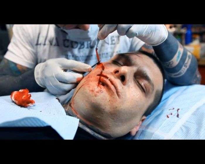 Лякаючі модифікації тіла польського репера (25 фото)