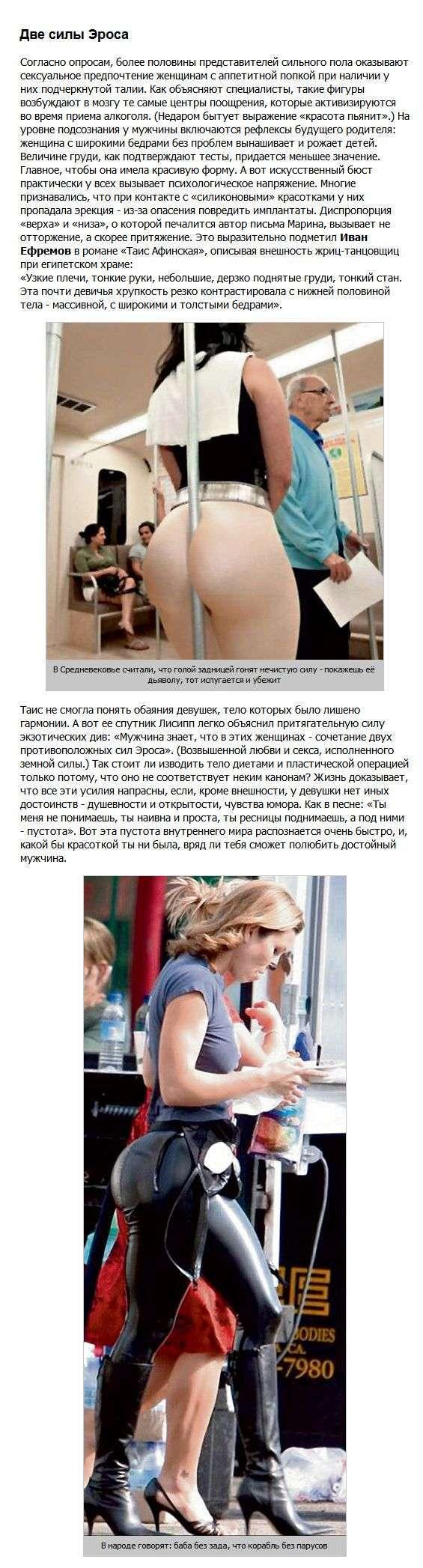 Факти про дівчат з великою попою (6 фото)