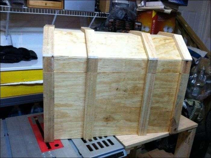 Холодильник для пива у вигляді скрині зі скарбами (10 фото)