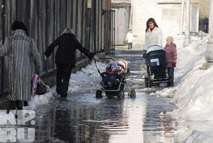 У Москві випав перший сніг (25 фото)
