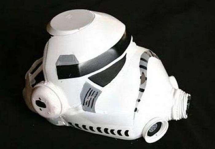 Маска штурмовики Імперії з підручних засобів (10 фото)