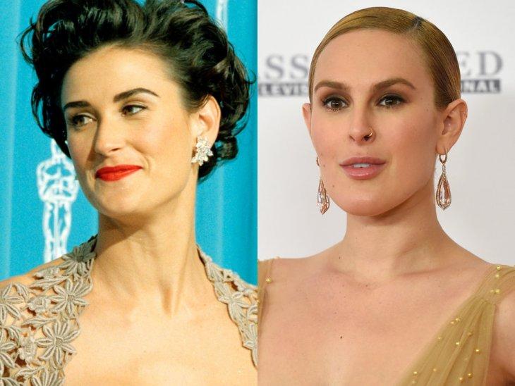 Как выглядели знаменитые родители и дети в одном возрасте знаменитости,звезды,известные люди,Знаменитости