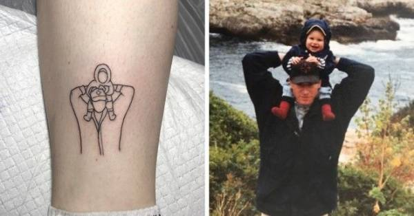 20 лаконичных татуировок от мастера минимализма из Южной Кореи Интересное