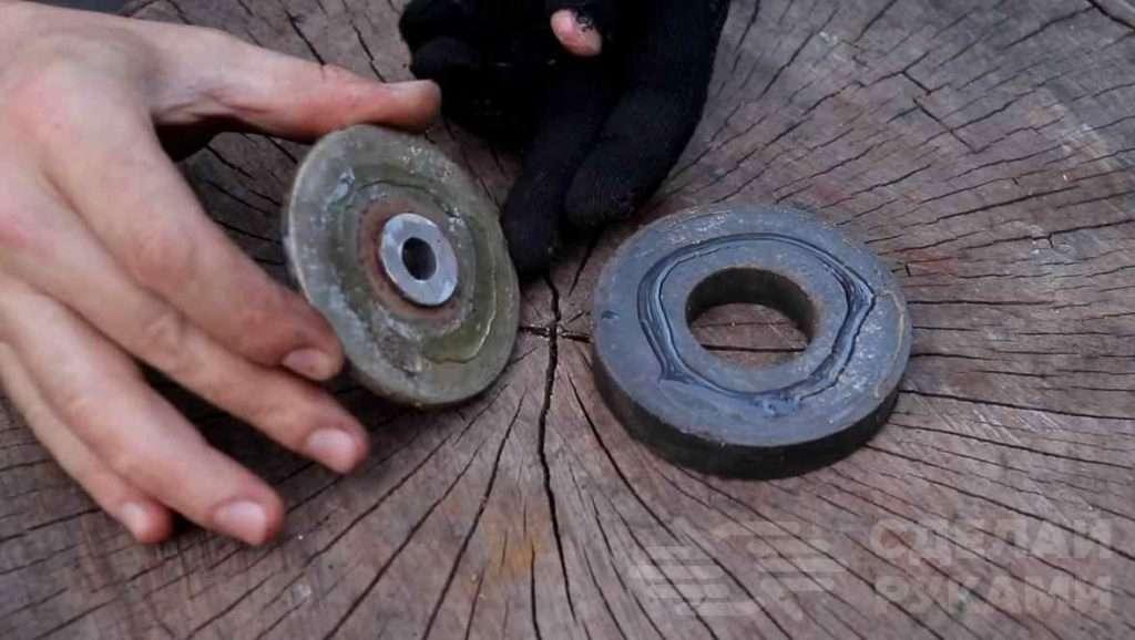 Магнитный «циркуль» для угловой шлифмашинки Самоделки