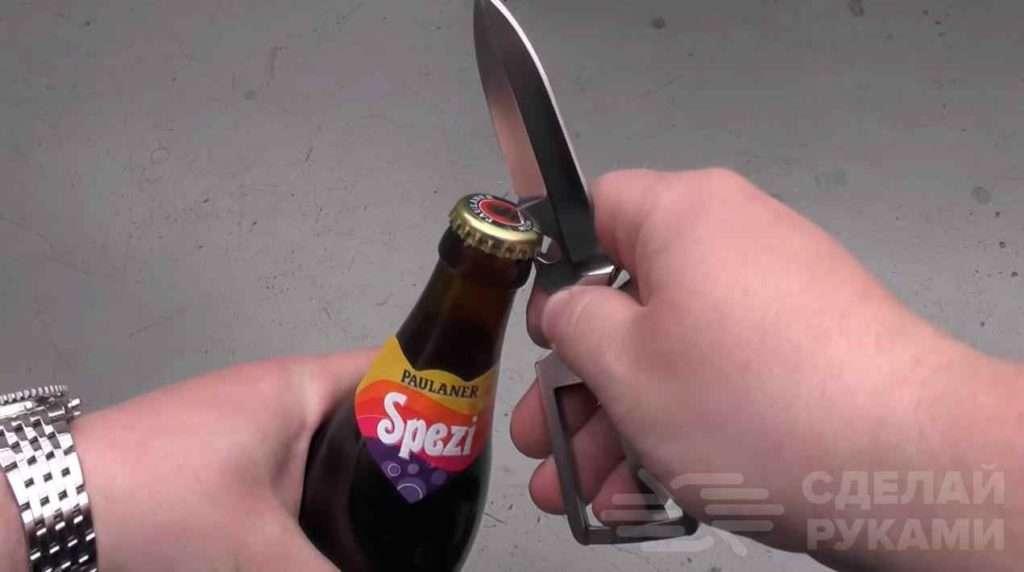 Самодельный нож в виде пряжки для ремня Самоделки