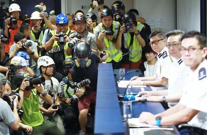 Массовые протесты в Гонконге с соблюдением дисциплины и порядка Интересное