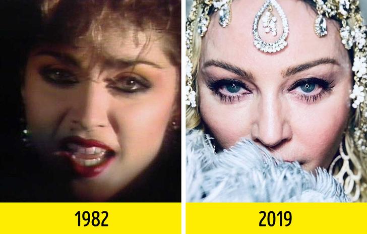 Как изменились 16 всемирно известных музыкантов с момента выхода их первого клипа Интересное