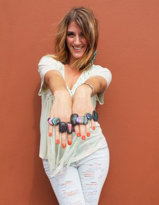 Камни, краски и неожиданный мастер-класс женские хобби,кольца,мастер-класс,поделки,рукоделие,своими руками,творчество,украшения