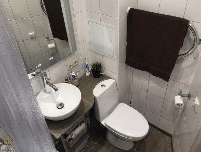 22-летний парень сделал ремонт ванной комнаты в подарок маме домашний очаг,,мастерство,мужское хобби,ремонт,своими руками,умелые руки