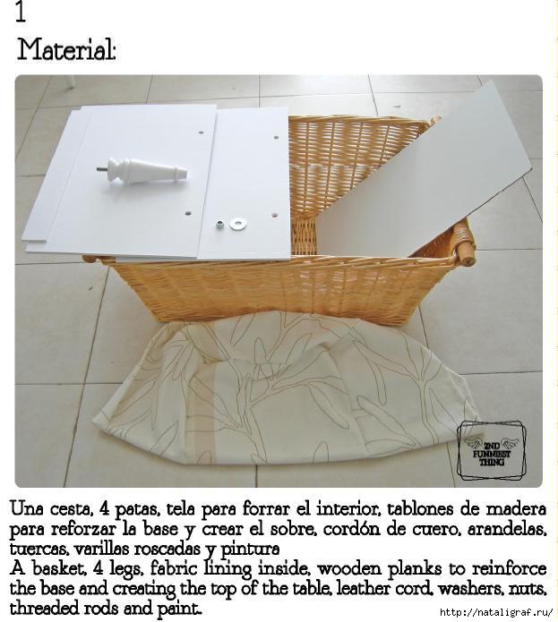 Корзина-столик своими руками мастерство,мебель своими руками скачать,переделка,рукоделие,своими руками,столик,умелые руки