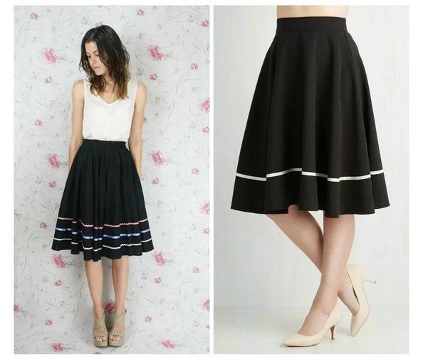 Варианты декора черной юбки одежда,переделки,рукоделие,своими руками
